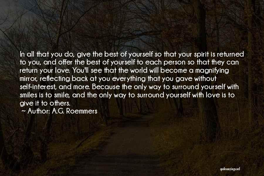 Give In Return Quotes By A.G. Roemmers
