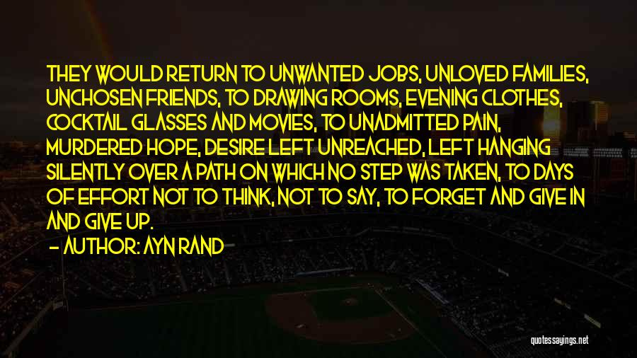 Give In Return Quotes By Ayn Rand