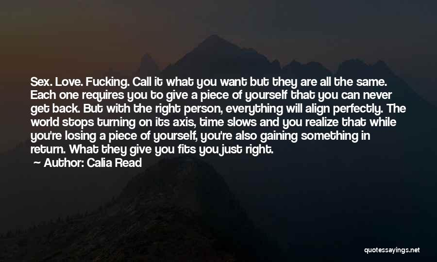 Give In Return Quotes By Calia Read