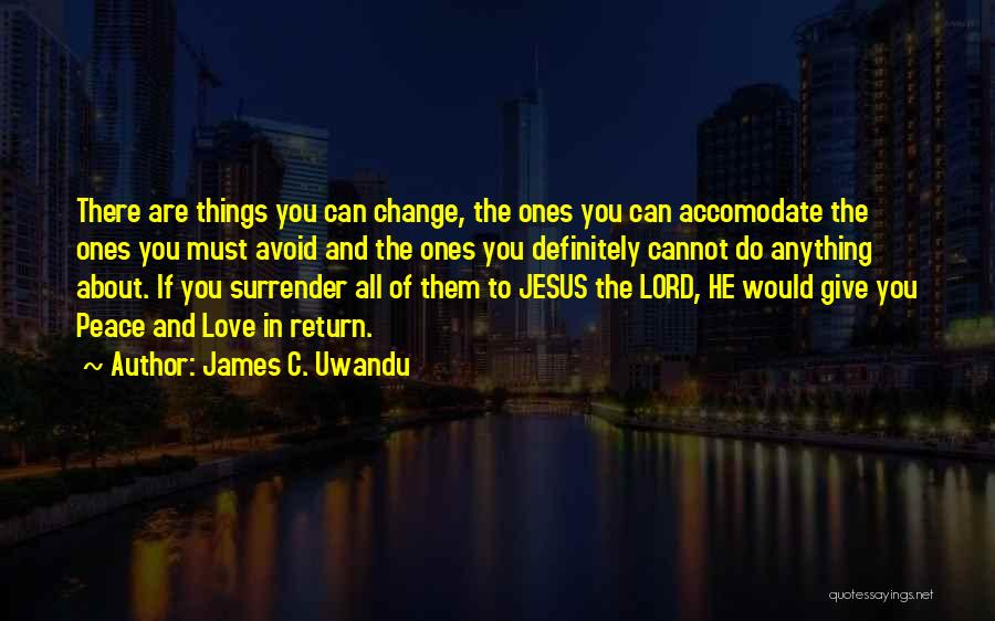 Give In Return Quotes By James C. Uwandu