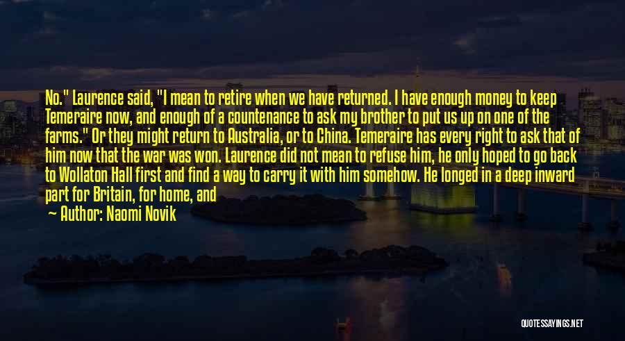 Give In Return Quotes By Naomi Novik