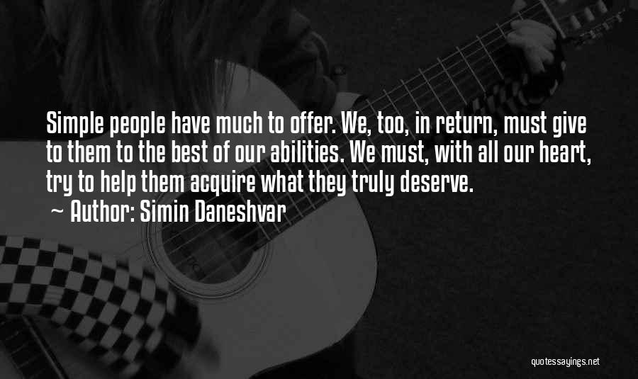 Give In Return Quotes By Simin Daneshvar