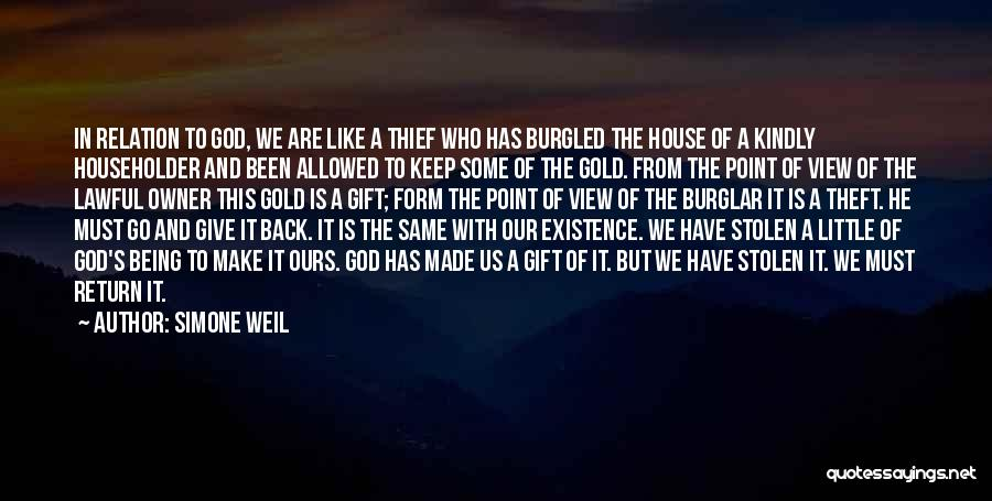 Give In Return Quotes By Simone Weil