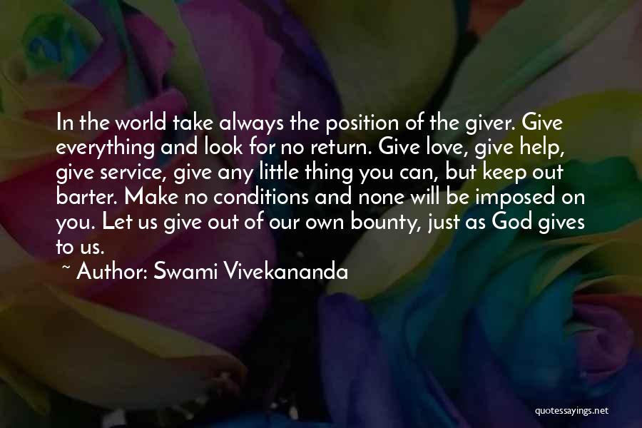 Give In Return Quotes By Swami Vivekananda