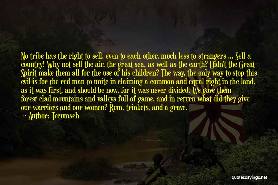 Give In Return Quotes By Tecumseh