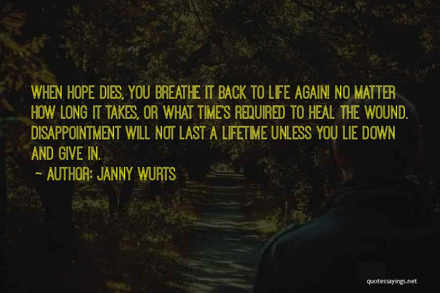 Give Yourself Time To Heal Quotes By Janny Wurts