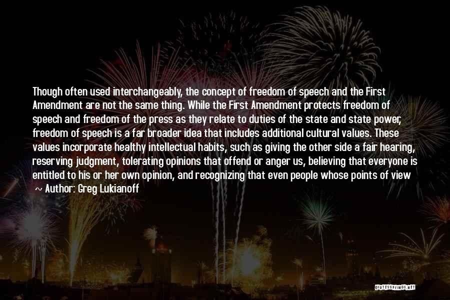 Giving A Speech Quotes By Greg Lukianoff