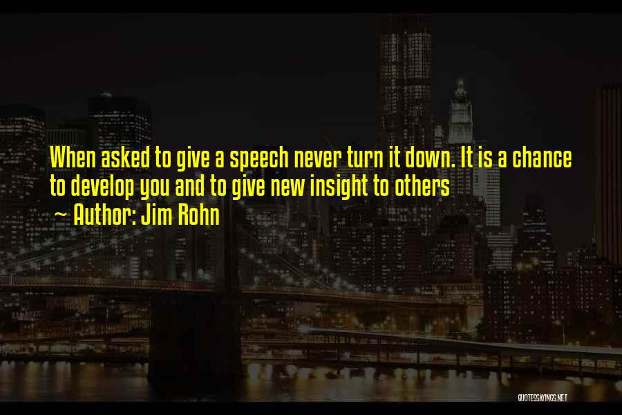 Giving A Speech Quotes By Jim Rohn