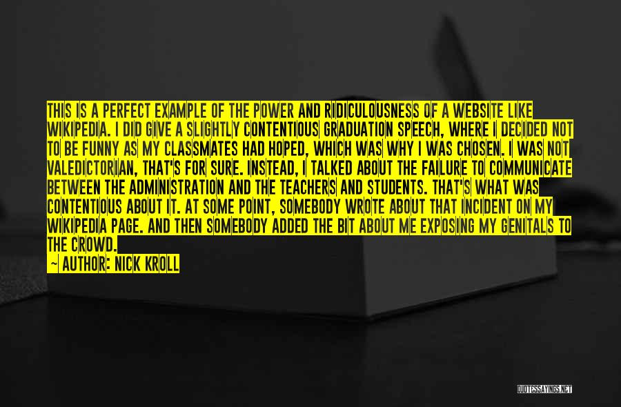 Giving A Speech Quotes By Nick Kroll