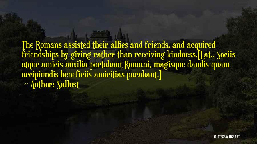 Giving And Receiving Friends Quotes By Sallust
