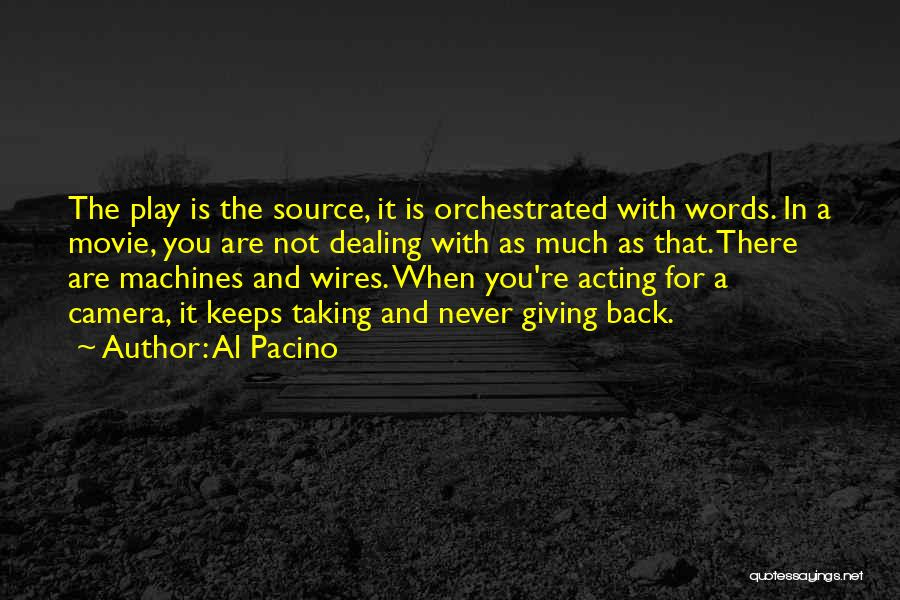 Giving And Taking Quotes By Al Pacino