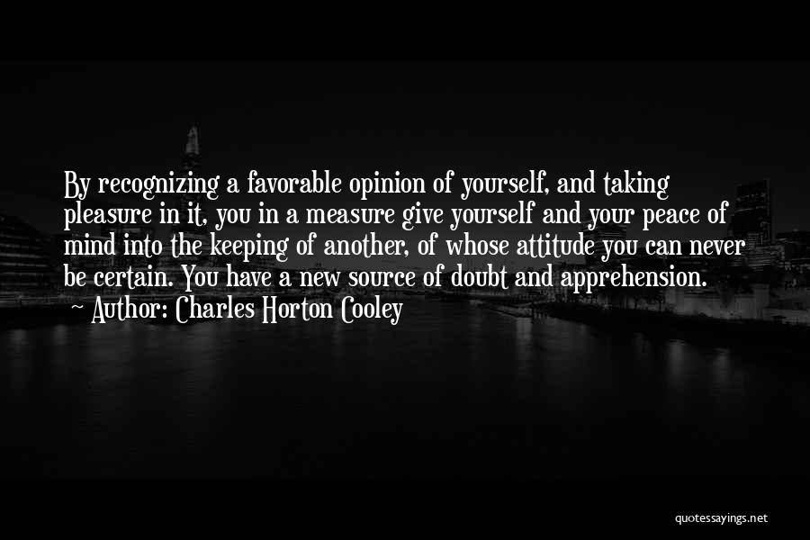 Giving And Taking Quotes By Charles Horton Cooley