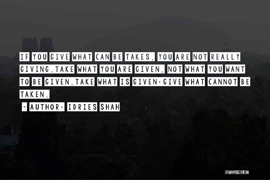 Giving And Taking Quotes By Idries Shah
