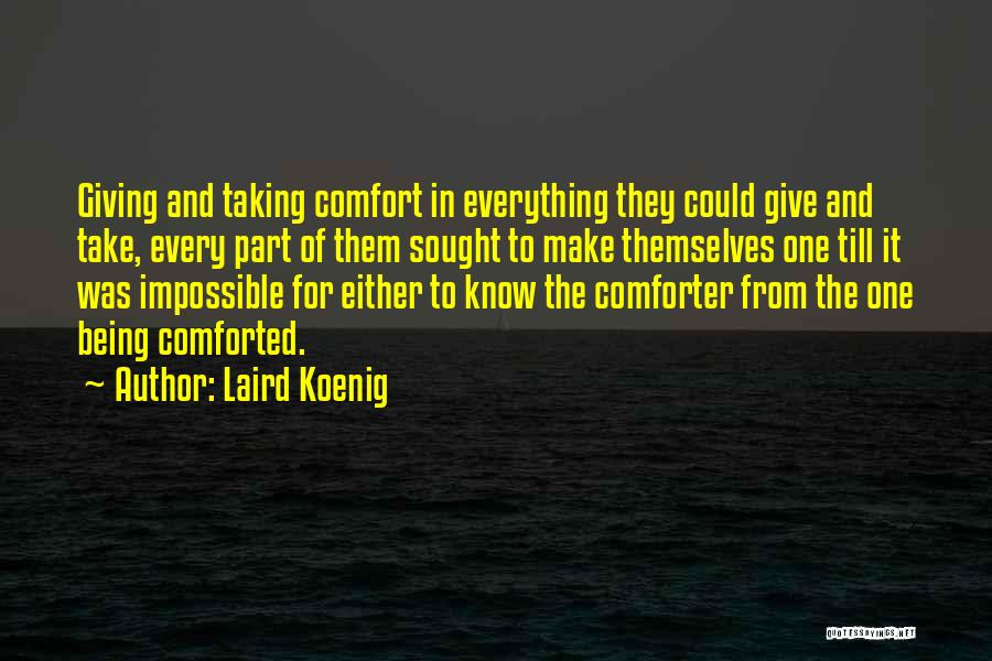 Giving And Taking Quotes By Laird Koenig