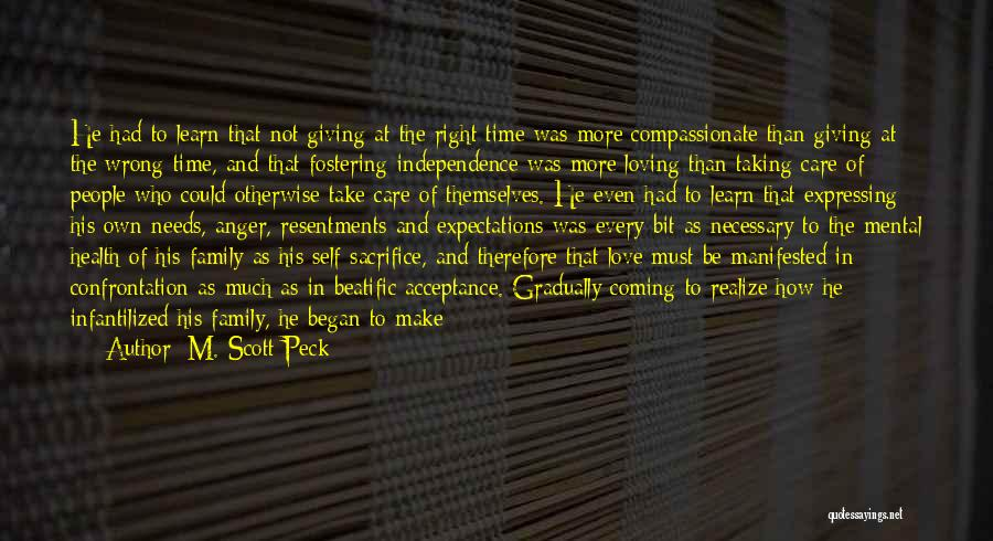 Giving And Taking Quotes By M. Scott Peck
