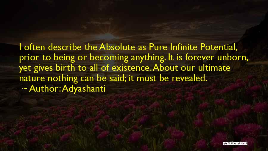 Giving Birth Quotes By Adyashanti