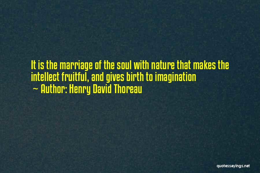 Giving Birth Quotes By Henry David Thoreau