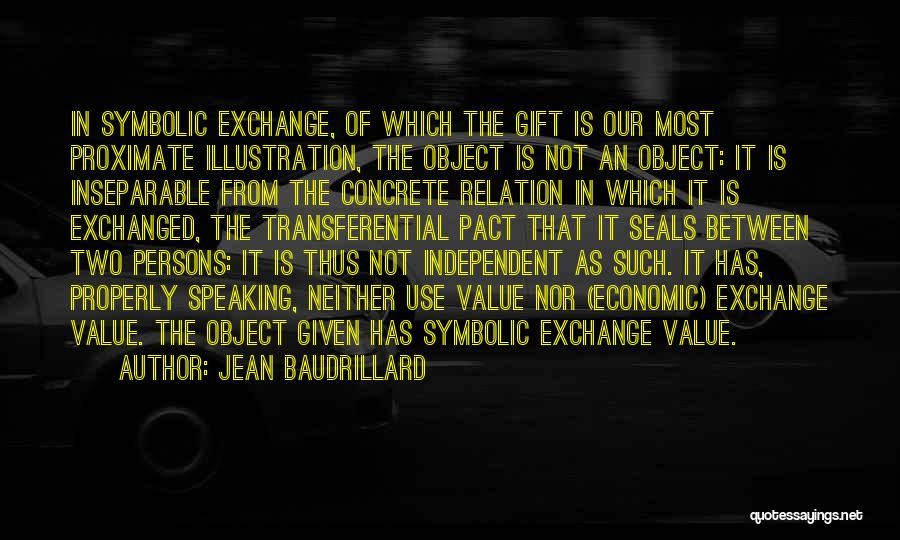 Giving Gifts Quotes By Jean Baudrillard