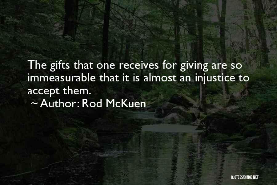 Giving Gifts Quotes By Rod McKuen