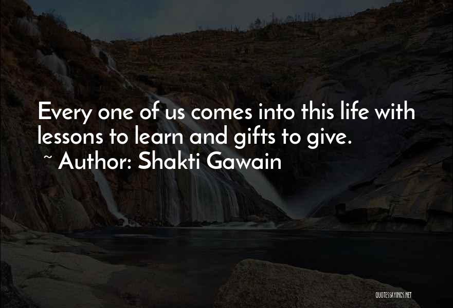 Giving Gifts Quotes By Shakti Gawain