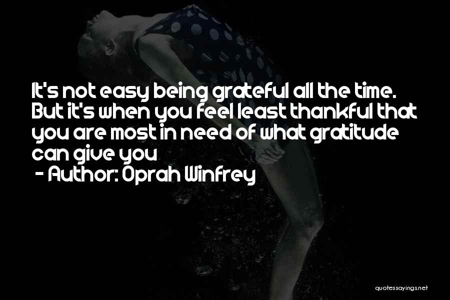 Giving In Time Of Need Quotes By Oprah Winfrey