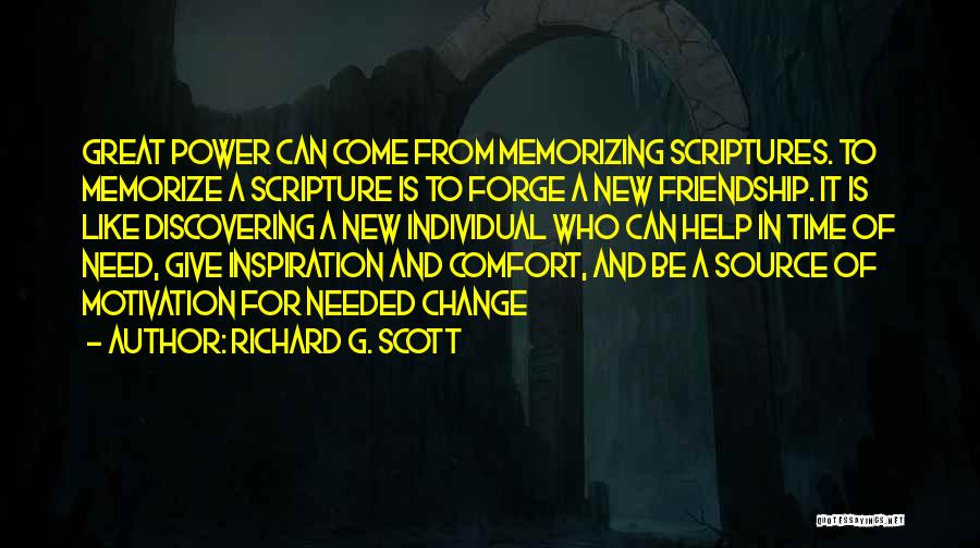 Giving In Time Of Need Quotes By Richard G. Scott