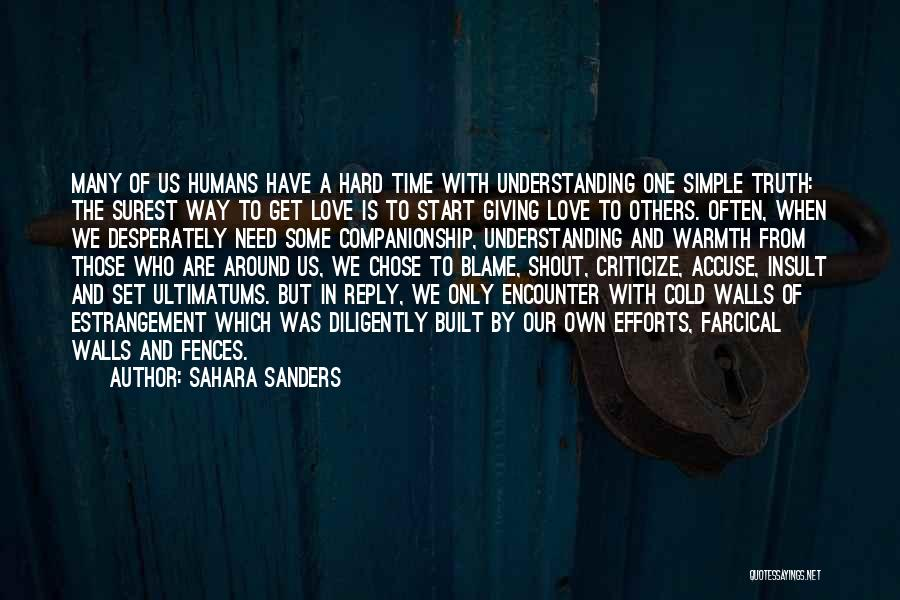 Giving In Time Of Need Quotes By Sahara Sanders