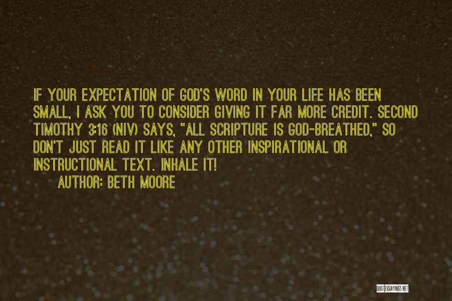 Giving It All To God Quotes By Beth Moore