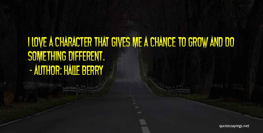 Giving Love A Chance Quotes By Halle Berry