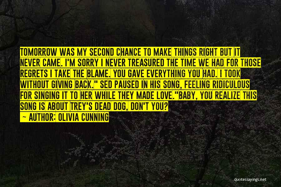 Giving Love A Second Chance Quotes By Olivia Cunning