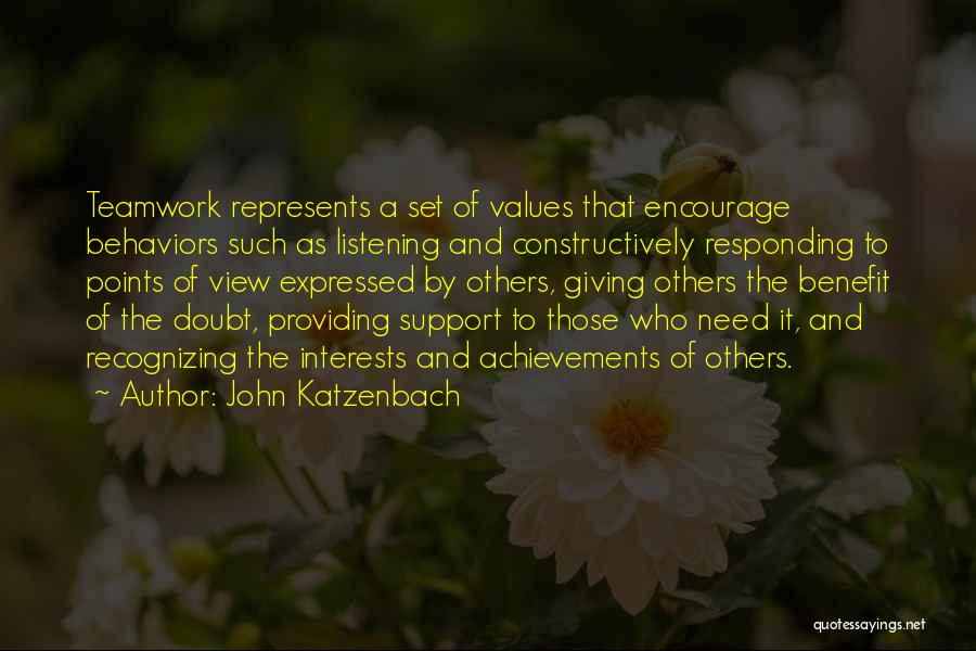 Giving Someone The Benefit Of The Doubt Quotes By John Katzenbach