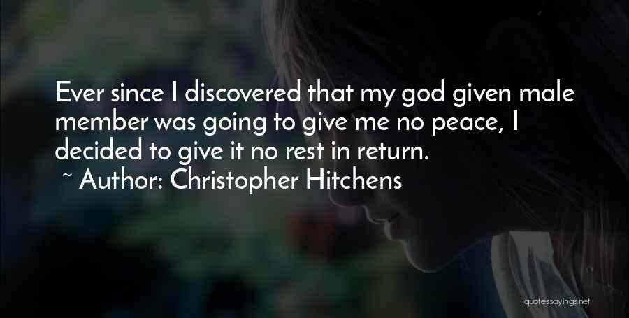 Giving To God Quotes By Christopher Hitchens
