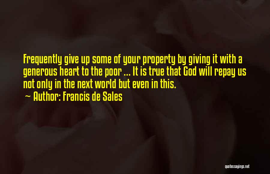 Giving To God Quotes By Francis De Sales