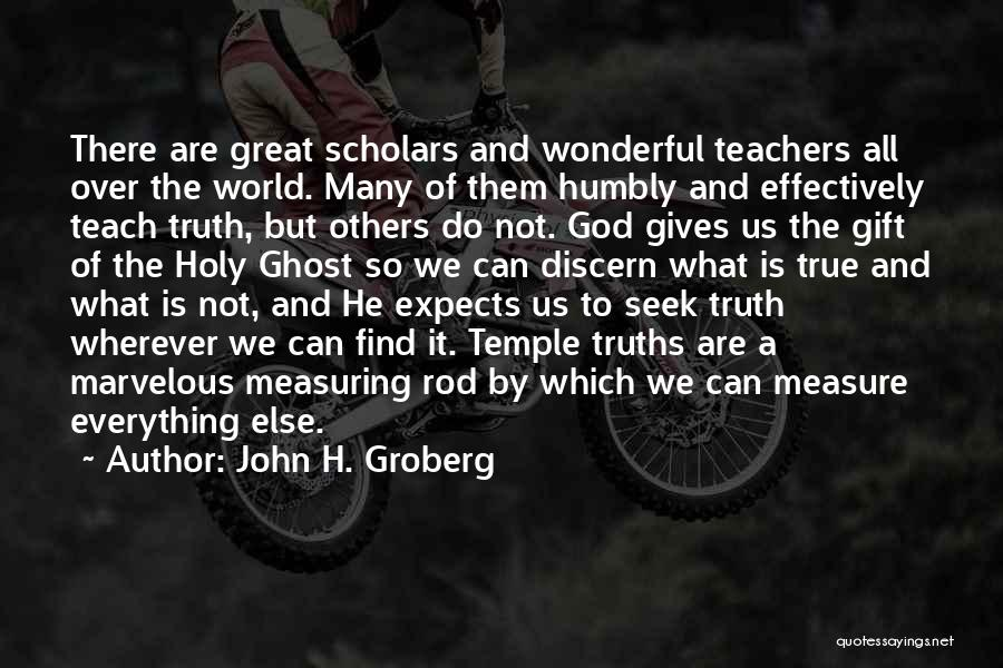 Giving To God Quotes By John H. Groberg