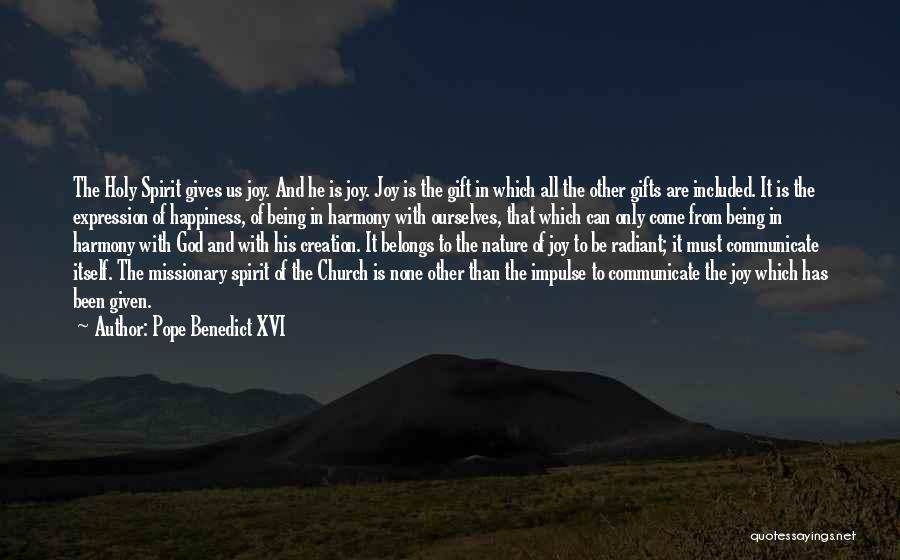 Giving To God Quotes By Pope Benedict XVI