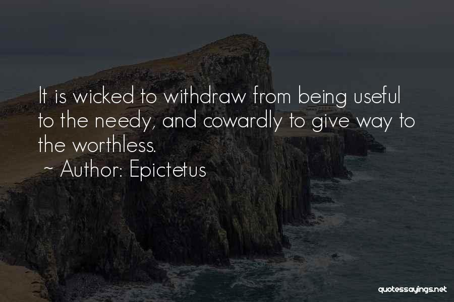 Giving To Needy Quotes By Epictetus