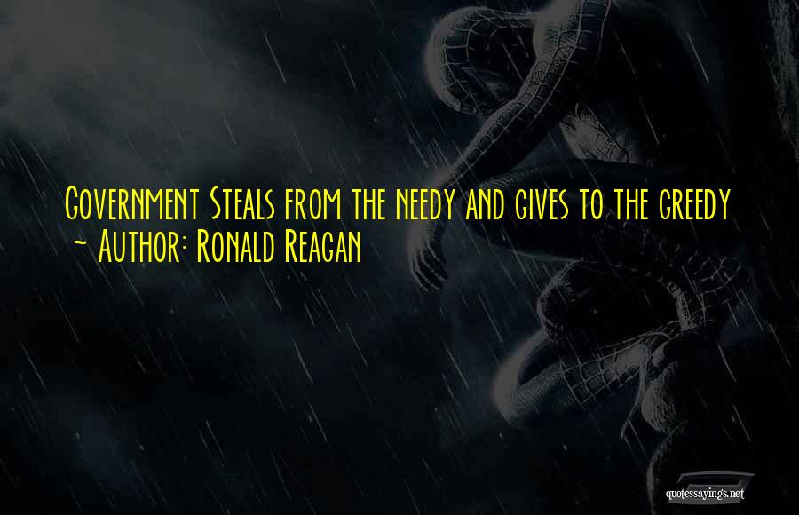 Giving To Needy Quotes By Ronald Reagan