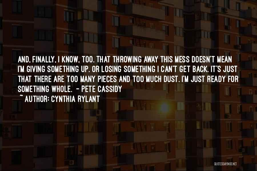 Giving Up Doesn't Mean Quotes By Cynthia Rylant