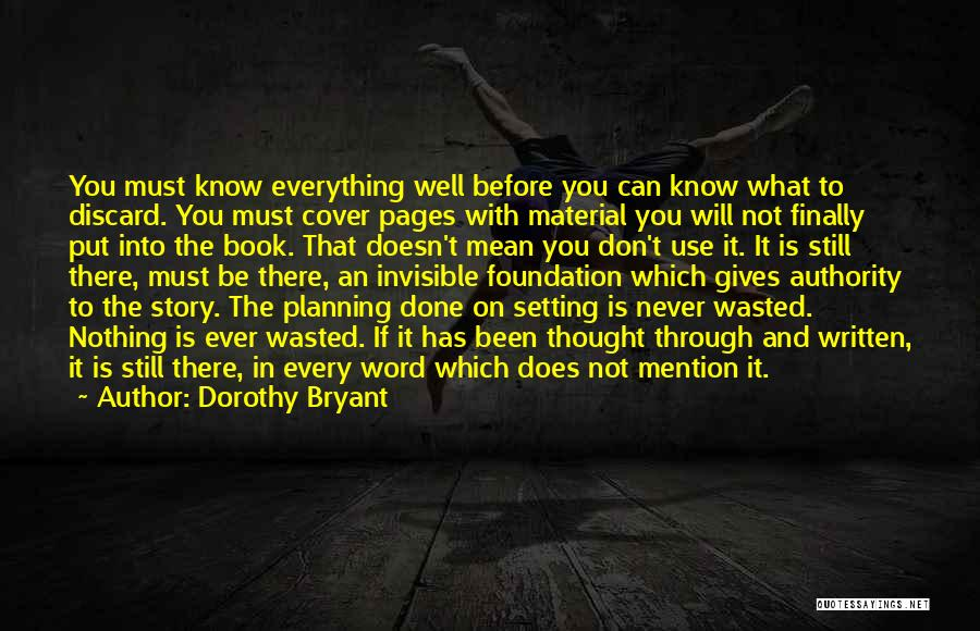 Giving Up Doesn't Mean Quotes By Dorothy Bryant