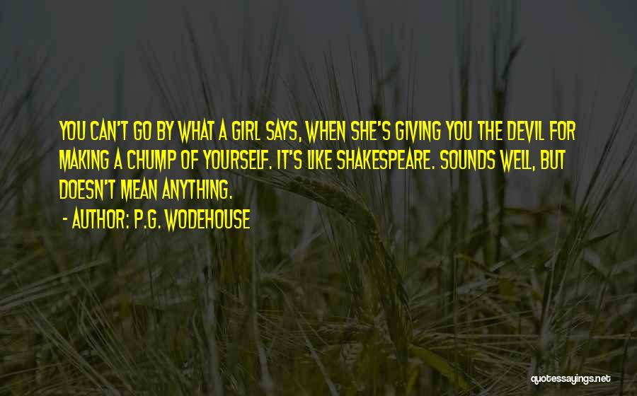 Giving Up Doesn't Mean Quotes By P.G. Wodehouse