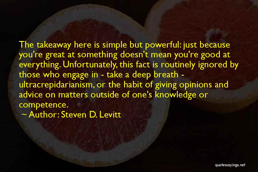 Giving Up Doesn't Mean Quotes By Steven D. Levitt