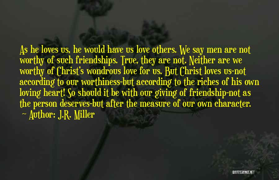 Giving Up Friendship Quotes By J.R. Miller
