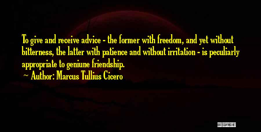 Giving Up Friendship Quotes By Marcus Tullius Cicero