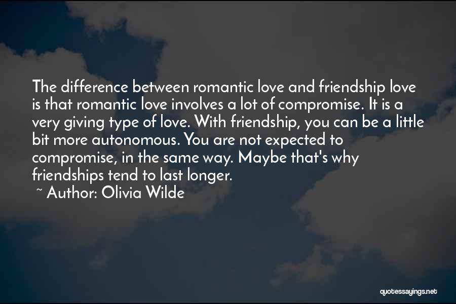 Giving Up Friendship Quotes By Olivia Wilde