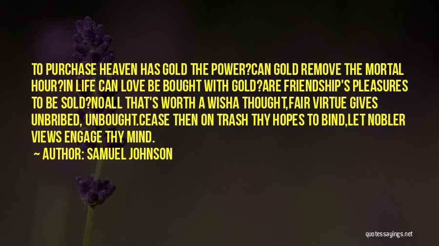 Giving Up Friendship Quotes By Samuel Johnson