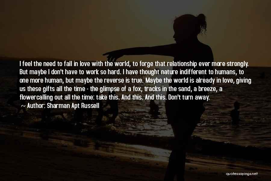 Giving Your Best In A Relationship Quotes By Sharman Apt Russell