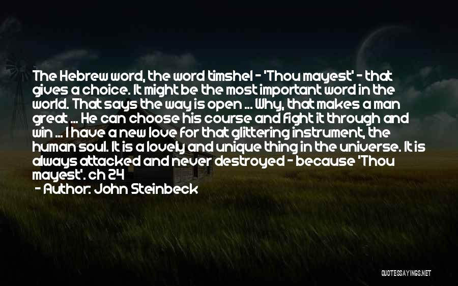 Glittering Love Quotes By John Steinbeck