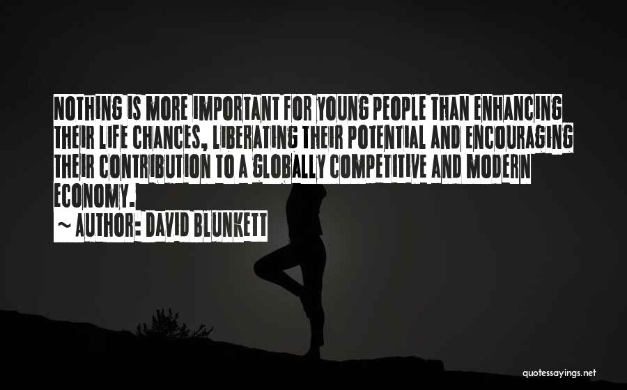 Globally Competitive Quotes By David Blunkett
