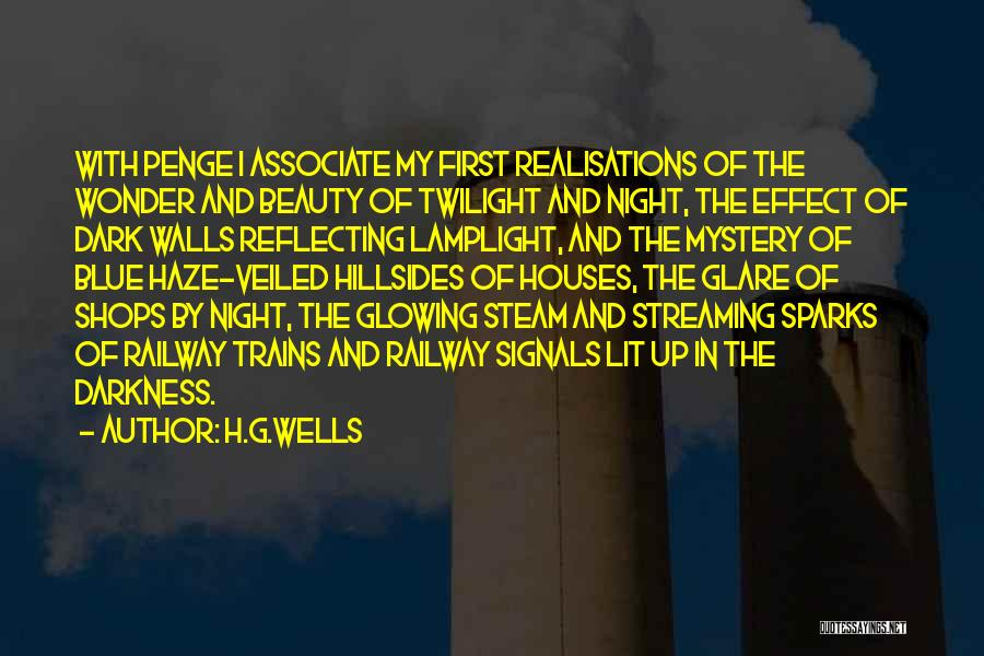 Glowing Beauty Quotes By H.G.Wells