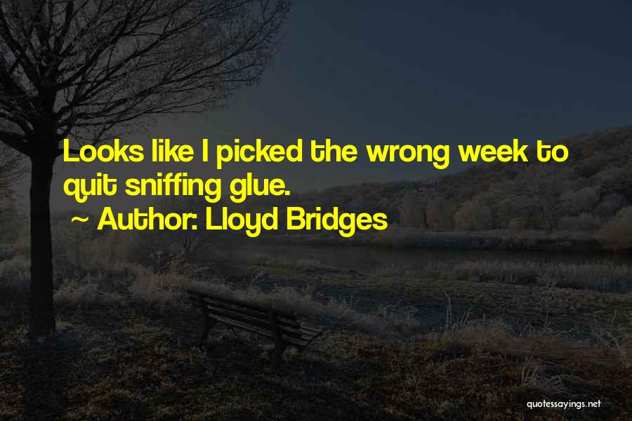Glue Sniffing Quotes By Lloyd Bridges